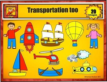 Transportation Clip Art for Preschool by Charlotte's Clips