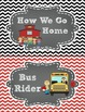 Transportation Clip Chart in Chalkboard and Chevron FREEBIE