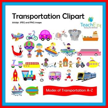 Transportation Clipart A-Z