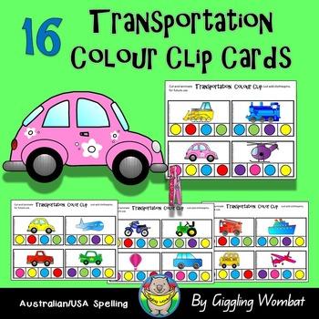 Transportation Colour Clip Cards