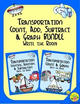 Transportation Count, Add, Subtract & Graph: Write the Roo