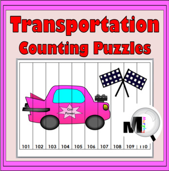 Transportation Theme Counting Puzzles - Numbers 1-120