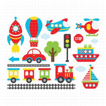 Transportation-Digital Clipart (LES.CL01A)