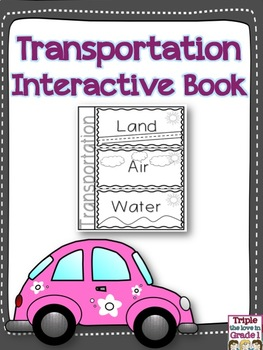 Transportation Flip Flap Book