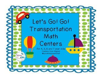 Transportation Go! Go! Common Core Math Centers Kinders, F