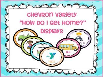 """Transportation/ """"How Do I Get Home"""" Display Cards {chevron"""
