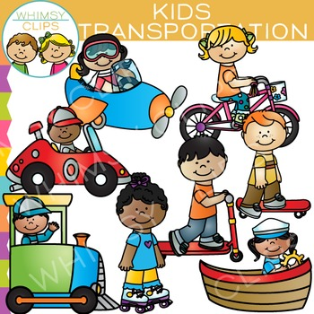 Kids Transportation Clip Art