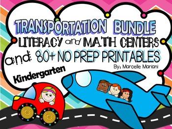 Transportation Theme- Literacy & Math Fun, Printables, Cen