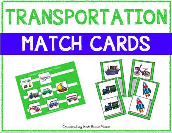 Transportation Match Cards