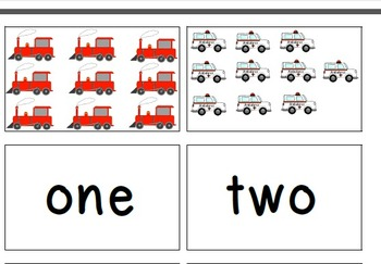 Transportation Matching Number Word to Quantity