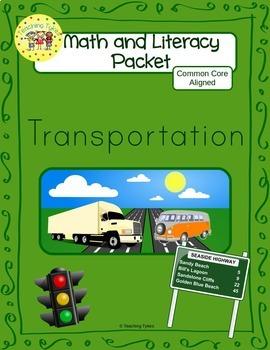 Transportation Worksheets Emergent Reader Task Cards