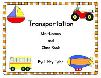Transportation Mini Lesson and Class Book