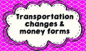 Transportation & Money tags