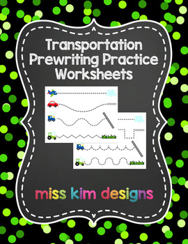 Transportation Prewriting Worksheets