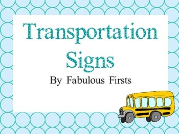 Transportation Signs with Light Blue Boarder