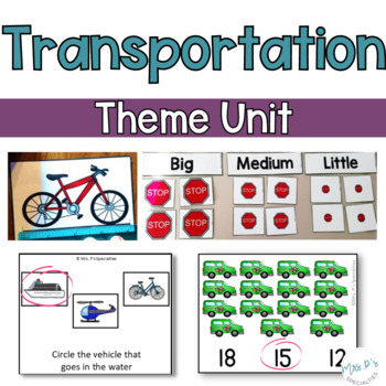 Transportation: Special Ed Thematic Unit