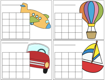 Transportation Sticker Charts