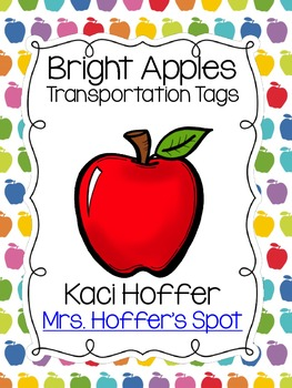 Transportation Tags {Bright Apple}