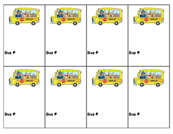 Transportation Tags for Back to School