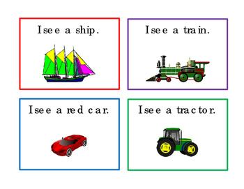 Transportation Task Cards ELA Reading Strategy 16 Literacy