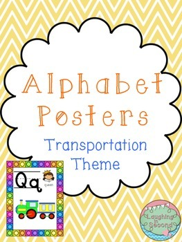 Transportation Themed Alphabet Posters