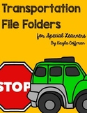 Transportation Themed File Folder Activities for Special E