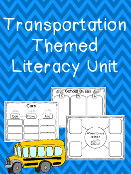 Transportation Themed Literacy Unit