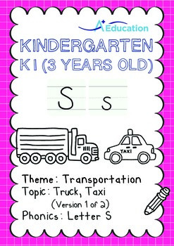 Transportation - Truck, Taxi (I): Letter S - K1 (3 years old)