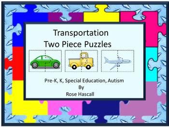 Transportation Two Piece puzzles