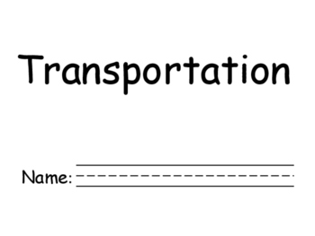 Transportation booklet and sort