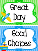 Transportation themed Printable Behavior Clip Chart. Class