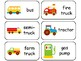 Transportation themed printable Picture Word Flash Cards.