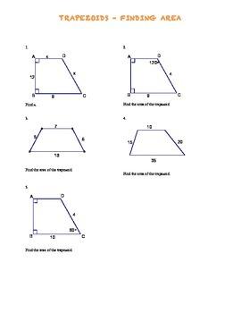 Trapezoid Area Problems