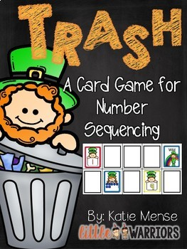 Trash! A Math Game for Sequencing Numbers {Leprechaun St.