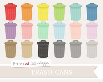 Trash Can Clipart; Garbage Can