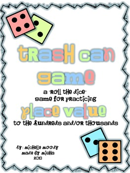 "Trash Can Game - A ""Roll the Dice"" game for Practicing Pla"