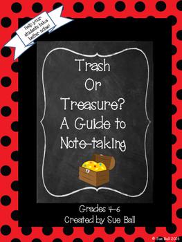 Trash or Treasure Note-taking