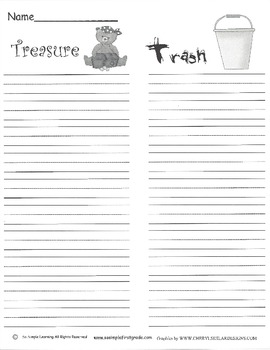"""""""Trash or Treasure"""" recording page for Daily 5"""