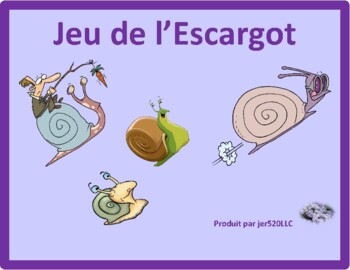 Travaux domestiques (Chores in French) Escargot Snail game