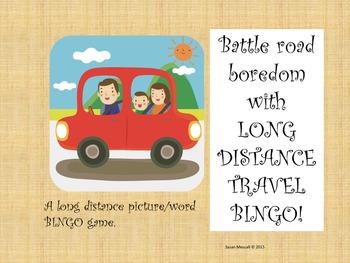 Travel BINGO {Long Distance Fun!}