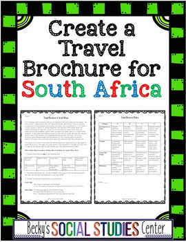 Travel Brochure of South Africa