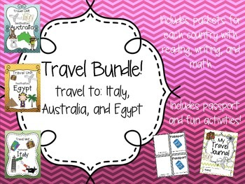 Travel Bundle! Australia, Italy, and Egypt