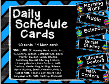 Travel Daily Schedule Cards