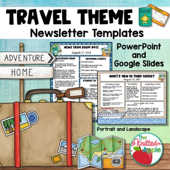 Travel Theme Newsletter Templates