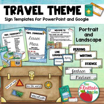 Travel Theme Sign Templates {Editable}