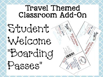 """Travel Themed Classroom Add On--Editable Student Welcome """""""