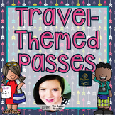 Travel-Themed Hall Passes for the Elementary Classroom