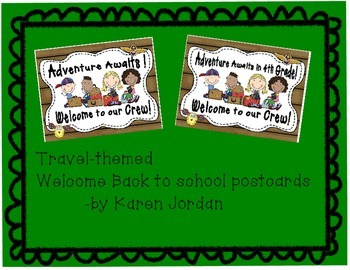 Travel-Themed Welcome Back to School Postcards 4th grade
