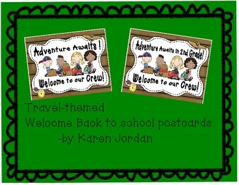Travel Themed Welcome Back to school postcards-2nd