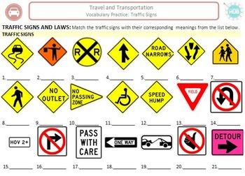 Travel & Transportation (B): Traffic Signs (Adult ESL)